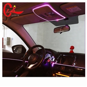 DIY Led Decoration Neon Light 12V Auto Car Interior LED Flexible EL Cold Wire Rope Tube Line