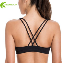 wireless yoga tops strap push up bra padded sports bra USA stylish sexy bra without buckles
