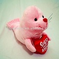 Valentine Pink Toy Plush Seal
