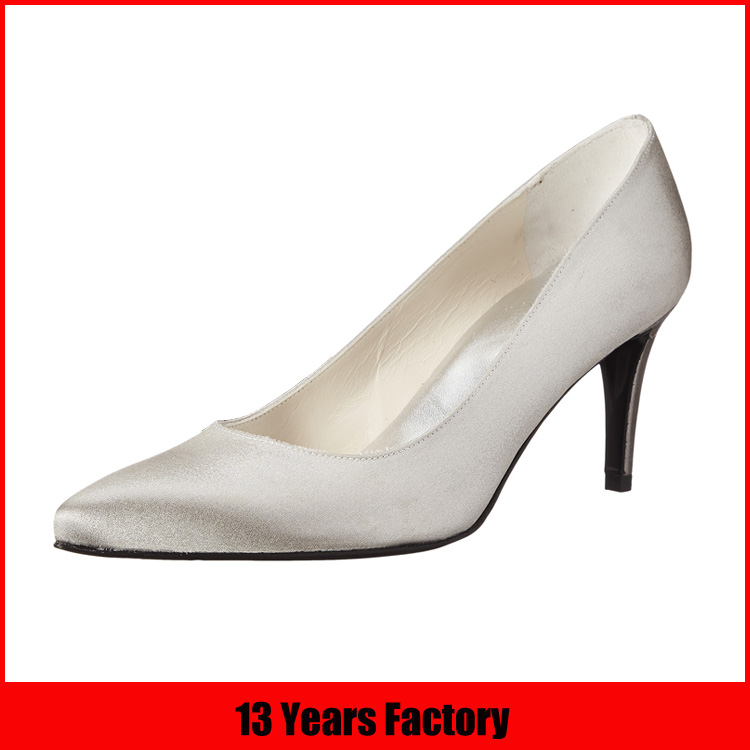 PU Insole Material and PU Lining Material ladies white wedding dress shoes