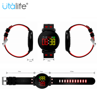 Utalife IP68 Waterproof Bluetooth Smart Sport Bracelet K2 fitness tracker band smart wristband heart rate blood pressure monitor