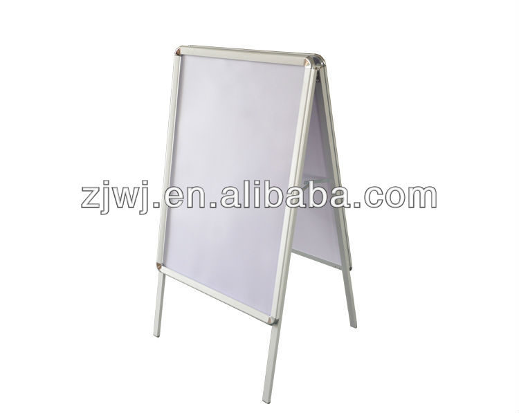 HBS-A outdoor aluminum <strong>poster</strong> stand activity folding A-BOARD <strong>poster</strong> movable display stand