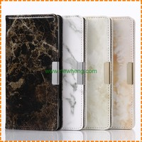 New New Arrival Marble Pattern Flip stand pu leather case for Sony Xperia XZ