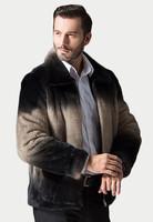 China Supplier Color Matching Men Genuine Mink Fur Coat for Winter
