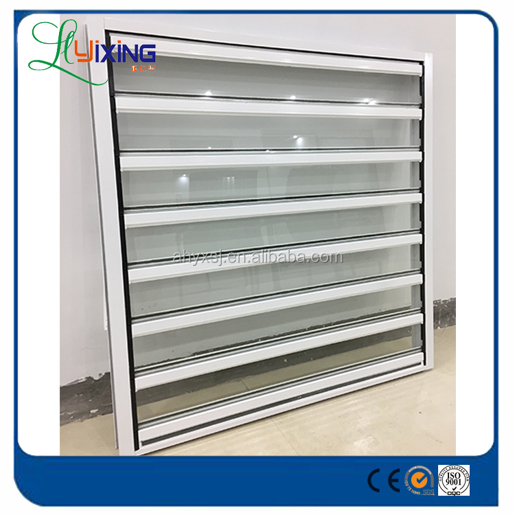 China wholesale high quality aluminum sliding glass louver windows shade blind windows