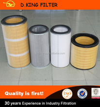 2016 Industrial Cellulose Micron Pleated Suction Compressor Air Filter