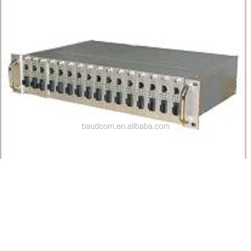 Baudcom Unmanaged <strong>16</strong> Slots Media Converter Rack chassis