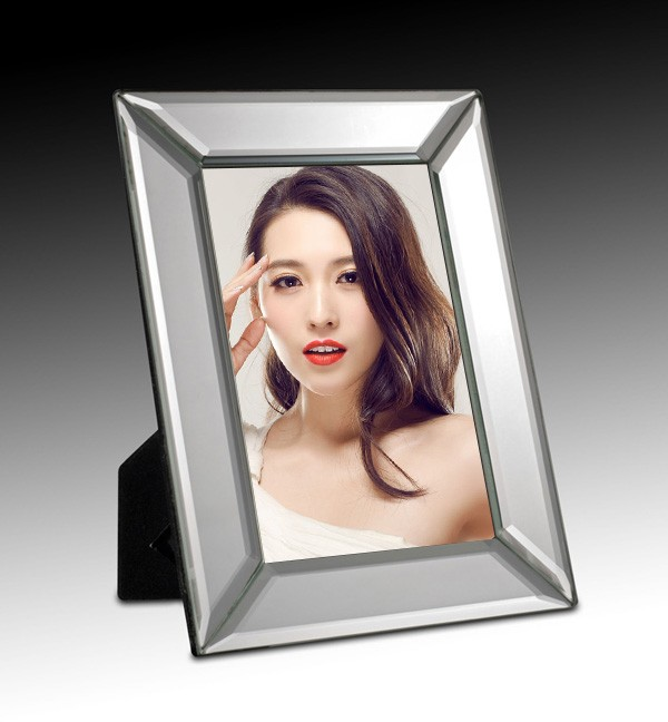 mirrored frame glass picture frame