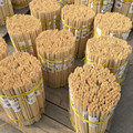 Nature Bamboo Pointed End Poles For BBQ