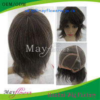 China full lace thin skin wigs grey white virgin Indian hair full handtied with bleached knots