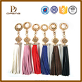 2015 newest style Fashion hot sales leather tassels keychain