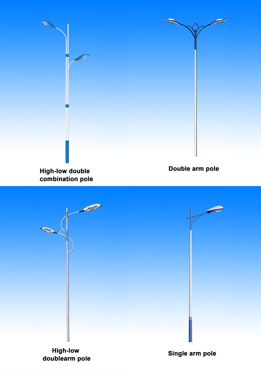 single arm pole for street lighting