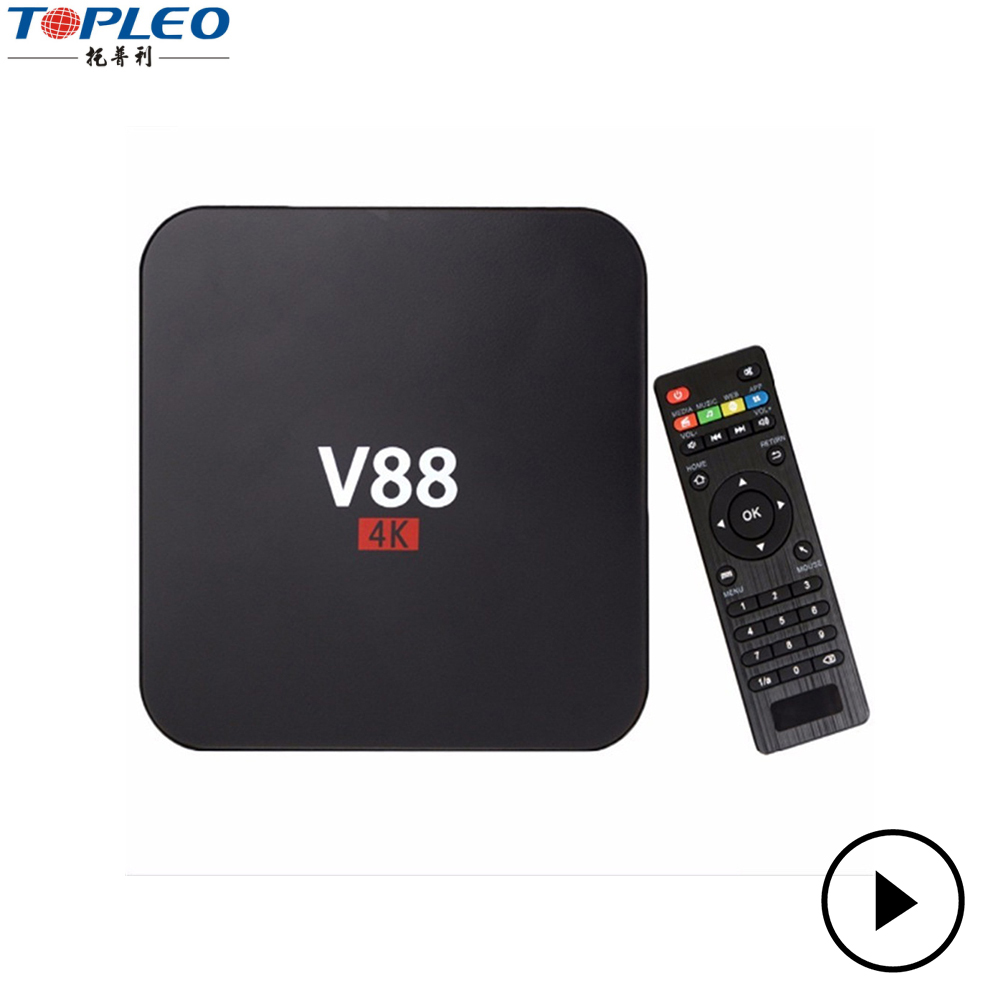 China made high quality best smart tv box android 6.0 with 4 High speed USB HOST