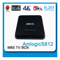 M8S smart stream tv box 4K Quad Core ott tv box andriod Octa Core GPU TV Box dual Wifi, Kodi Andriod 5.0 OS /Linux OS