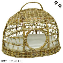 Rattan pet house in Vietnam / Handicraft dog kennel / Natural dog house (HMT 12.810)