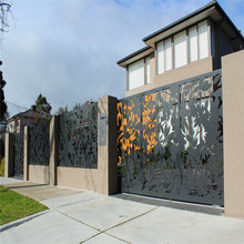 Customed Laser Cut Aluminum Panel Modern Fence and Gate Design