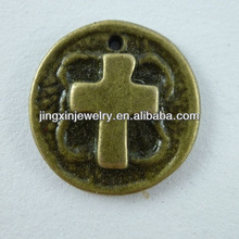 Popular Design Accessories Cross On The Coin Metal Art Craft Models