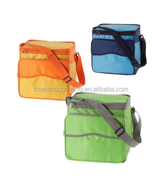 Wholesale high quality durable polyester travel portable camping fitness food and drink insulated cooler bag ice cooler box