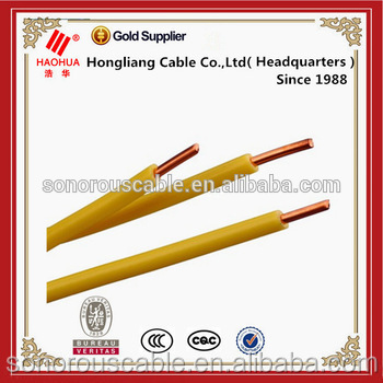 Round copper conductor indoor electricing wiring PVC cable 1.5mm