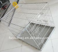 Powder coated steel dog cages