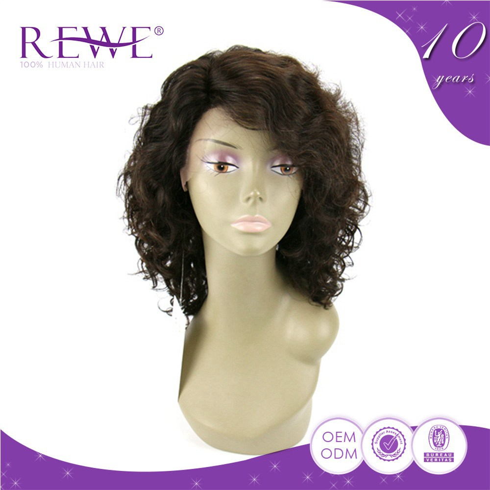 Super Price 100% Real Lace Human Curly Top Silk Fanny Wo Wigs