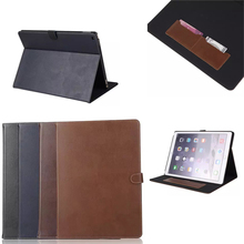 Factory wholesale lowest price,Magnetic buckle Genuine Leather Case Slots Case for iPad Pro 12.9
