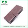 Free sample 7 colors Oix wax slim stitching leather wallet flip case cover for samsung galaxy s6 / s6 edge with stand function
