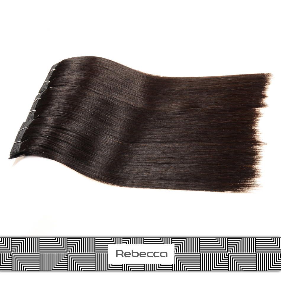 rebecca 2015 new products natural 18 inch yaki peruvian virgin remy human hair extensions