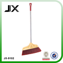 plastic broom with stainless steel pipe for household using brush and broom