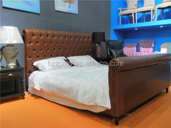 Double size single size twin size bed designs pu leather bed furniture soft bed