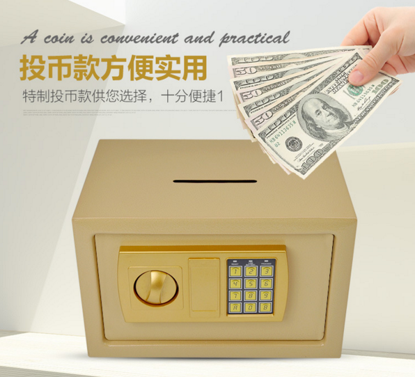 Electronic safe box for coins and cash saving hot selling promotional