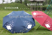 UV protection 3 fold color changing magic umbrella