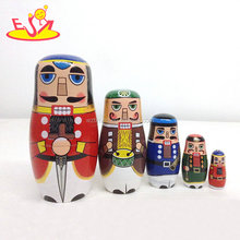 2018 Wholesale cheap nesting doll sets best wooden crafts gifts for kids W06D094