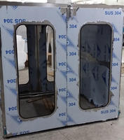Trolley Pass box with air shower designed,stainless steel pass box