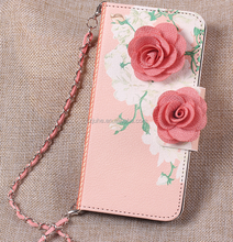 2017 HOT Card Slot Flip Wallet Mobile Cell Phone Case For iPhone 6s 6 Wholesale Free Sample Flower Leather Phone Case