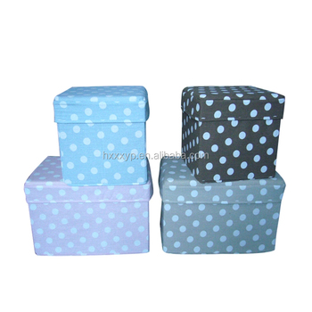 Hot Sale Stools Storage Box/Footrest Foldable Ottoman