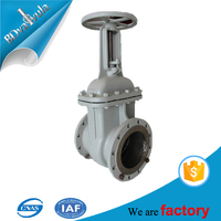 Gost standard DN50 DN80 DN100 PIPE gate valve with hand wheel