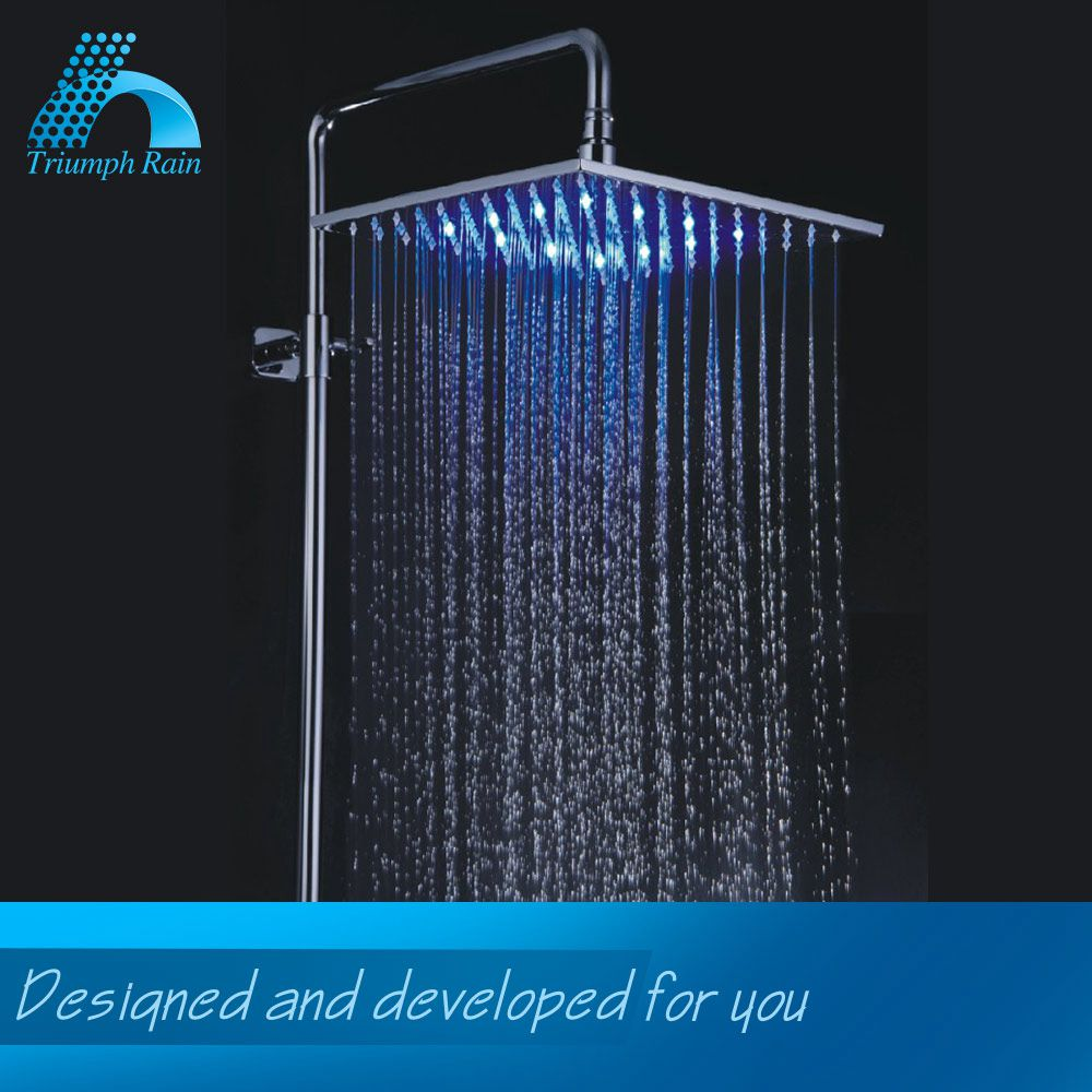 Good quality big rainfall led light shower rain head