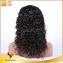 premier hair Bleach Knot Aliexpress Brazilian Human Hair Full Lace Short Curly Wig For Black Women
