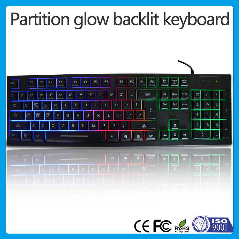 New brand gaming Keyboard usb led Gaming Backlit Keyboard