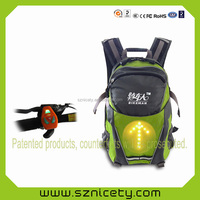 2016 Latest Wireless LED Pilot Lamp Turn Signal Light Backpack 18L With Remote Control for Bike/Hiker Traffic Safety