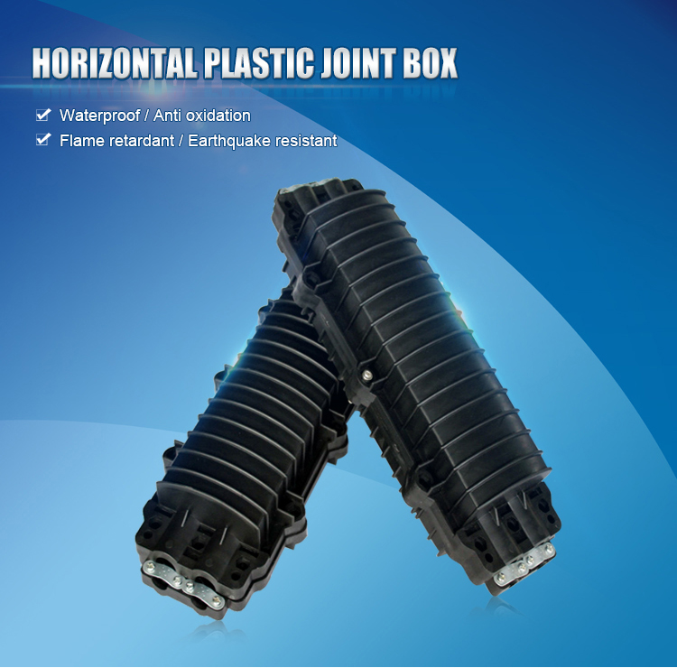 Plastic joint box for pole