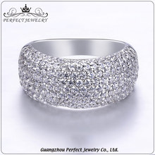 Hot sale wedding engagement accessories zircon 925 sterling silver rings jewelry for girls