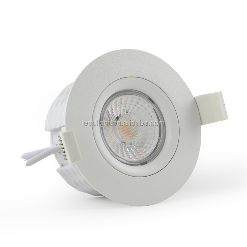 360deg tilt GYRO Norge dimmable 8w cob downlight warmdim IP44