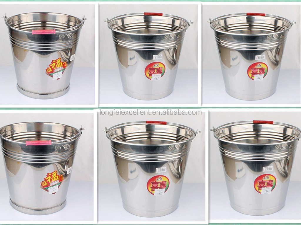 High quality best selling galvanized iron bucket with hoop