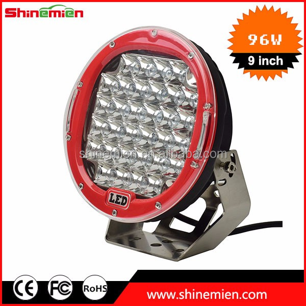 96w auto led tuning light external light truck tractor boat free cover red