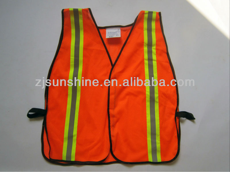 Mechanical mesh safety vests with printed reflective vest meeting en471