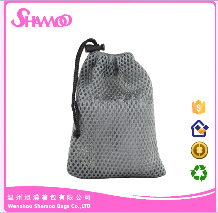 Black Cell Phone Other Accessories Nylon Mesh Drawstring Pouch Bags