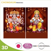 Sedex Audited Factory Custom 3d hindu god picture