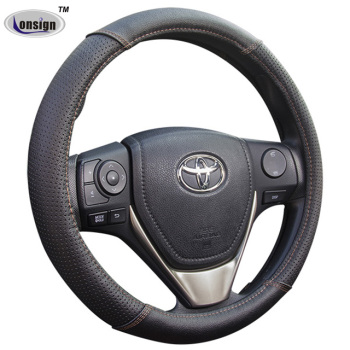 Hot and Deluxe Genuine Leather Car Steering Wheel Cover